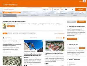 Screenshot Startseite Tourismuspresse.at