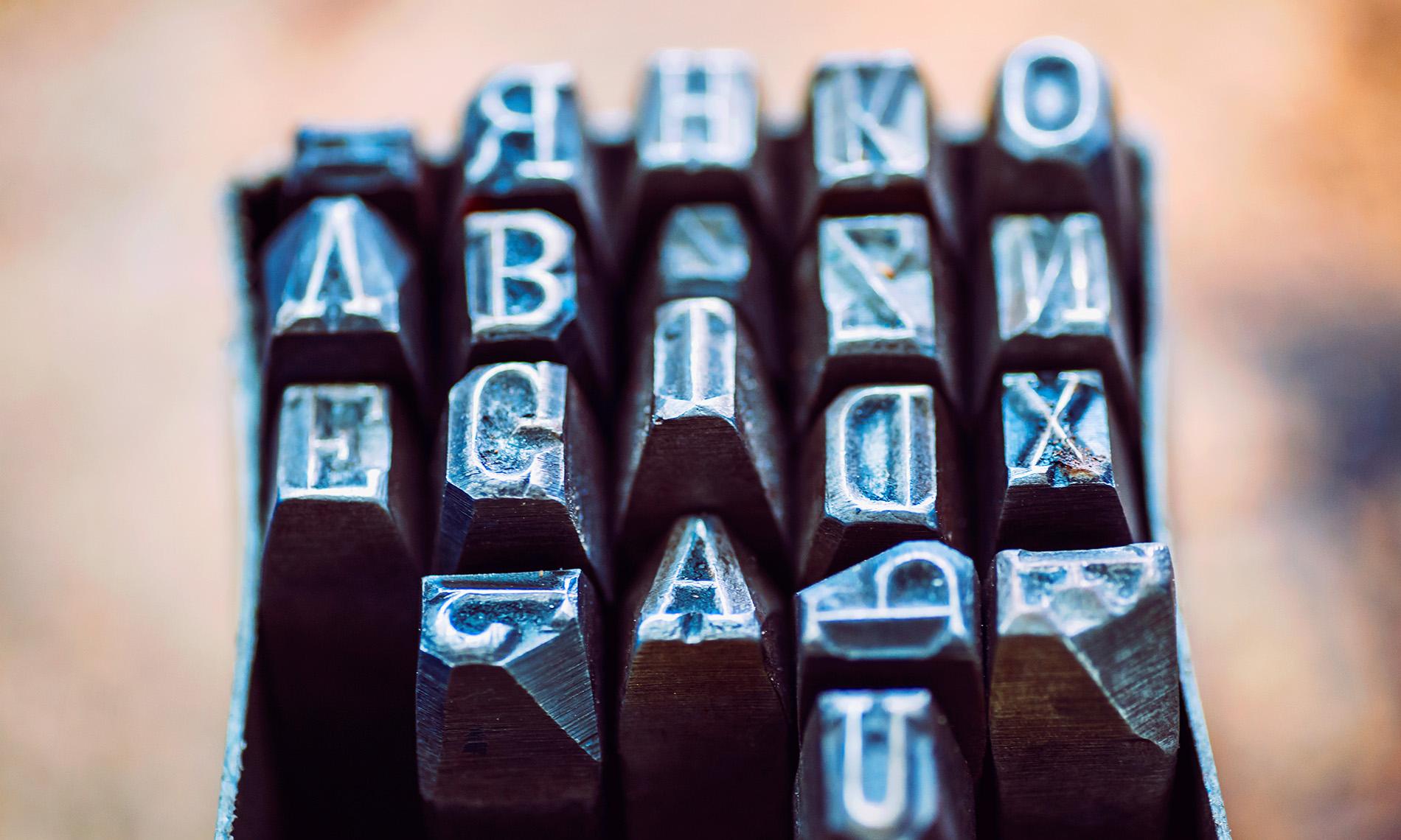 Buchstaben Schreibmaschine